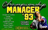 Championship Manager 93 DOS main title screen