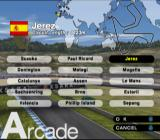 MotoGP 3 PlayStation 2 Selecting the circuit.