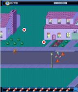 Paperboy: Wheels on Fire J2ME Some targets to hit and the new non-isometric perspective that is sometimes shown