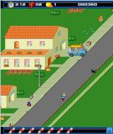 Paperboy: Wheels on Fire J2ME Familar Paperboy gameplay shown here
