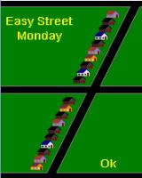 Paperboy J2ME Overview of Easy Street on Monday