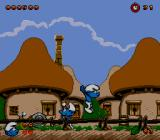 The Smurfs SEGA CD Mind the flying parts of soil