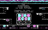 Dino Eggs PC Booter Title screen (CGA with RGB monitor)