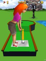 3D Mini Golf: Castles J2ME Game start at the first hole and course