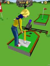 3D Mini Golf: Castles J2ME Hole where a cannon plays a role