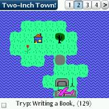 Two-Inch Town Palm OS The solitude of a lonely island should be perfect for writing a book
