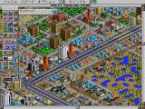 SimCity 2000 FM Towns Zooming in a on a large city