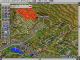 SimCity 2000 FM Towns Oakland is on fire