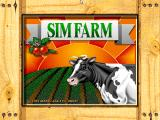 SimFarm FM Towns The cow obstinately makes its way to the title screen, too