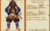 Conquest of Japan DOS Game Setup Screen (VGA)
