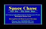 Space Chase Part One: City Under Siege DOS Title screen.
