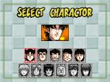 High School! Kimengumi: The Table Hockey PlayStation Character select screen for single player mode. 5 characters are available from the start, and more will unlock as the game is played.