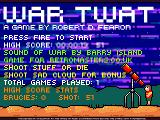 War Twat Windows Title screen