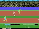 The Activision Decathlon ColecoVision Jumping over hurdles...