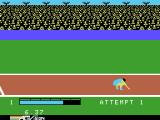 The Activision Decathlon ColecoVision Landing after a long jump