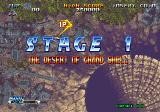 Blazing Star Neo Geo Stage 1. The desert of grand shell.