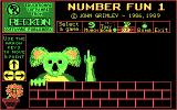 Number Fun 1 DOS Main menu