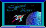 Space Miner DOS The title screen