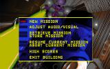 Corridor 7: Alien Invasion DOS Main Menu
