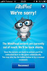 MindFeud iPhone Connection errors