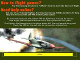 Fighter Ace 3.5 Windows Then the game menus load.