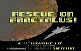 Rescue on Fractalus! Commodore 64 Title screen