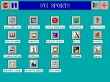Best of Sports Games DOS This is the main menu