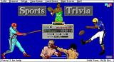 Sports Trivia DOS This screen is displayed as the game loads.