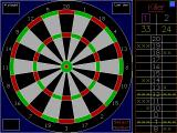 R.S.A Darts DOS The dart board is nice and clear, so are the scores. This is a game of Killer that's part way through.