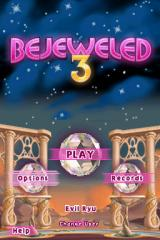 Bejeweled 3 Nintendo DS Title screen with main menu.