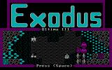 Exodus: Ultima III DOS As in Ultima IV, you get a cute little intro animation.