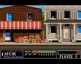 Capone Amiga Level 1. Shoot the bad guys.