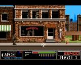 Capone Amiga Level 2 - it's getting harder. Walking guys when killed they leave a dynamite stick that explodes! Shoot it as well!
