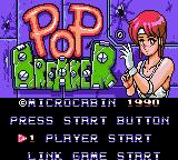 Pop Breaker Game Gear Title screen