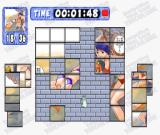 Nante! Tantei Idol: The Jigsaw Puzzle PlayStation The game offers many different types of puzzle pieces. This one is made up of square blocks.