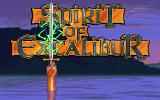 Spirit of Excalibur DOS Title screen