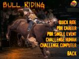 Professional Bull Rider 2 Windows Bull Riding Menu