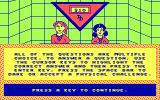 Double Dare DOS Introduction and press any key to continue (CGA original)