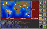 Global Domination DOS Main Game Screen