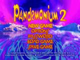 Pandemonium 2 Windows Game title and main menu