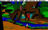 King's Quest IV: The Perils of Rosella DOS The dwarves' house at night - it's worth checking out how places change after nightfall