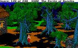 King's Quest IV: The Perils of Rosella DOS Another night view: the creepy forest - it looks better at night