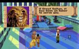Quest for Glory III: Wages of War DOS The hero, Rakeesh, Uhura and her baby leave Shapeir