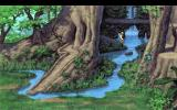 Quest for Glory III: Wages of War DOS Base of the magical giant tree