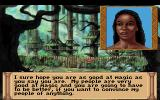 Quest for Glory III: Wages of War DOS Entering the Leopardmen village with Johari