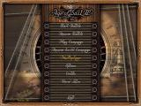 Age of Sail II Windows Main menu