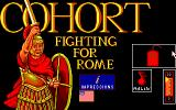 Fighting for Rome DOS Menu Screen