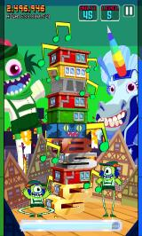Monsters Ate My Condo Android Green monster is using his power.