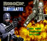 RoboCop Versus the Terminator SNES Title screen