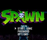 Todd McFarlane's Spawn: The Video Game SNES Main menu